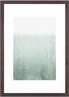 "FADING GREEN EUCALYPTUS Framed Art Print-  15"" X 21 ""- Conservation Walnut Frame - Society6"