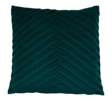 James Pleated Velvet Throw Pillow - Decor Therapy - Target