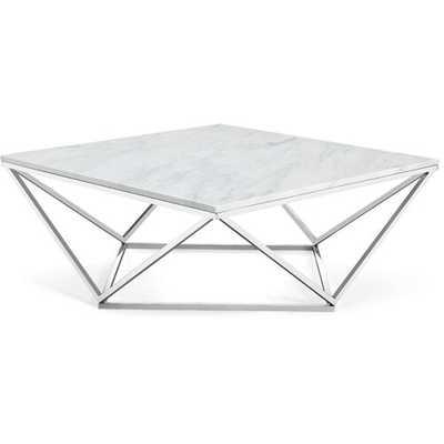 Robeson Marble Coffee Table-Chrome - Wayfair