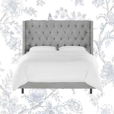 Improv Upholstered Standard Bed, Velvet Steel Gray, King - Wayfair