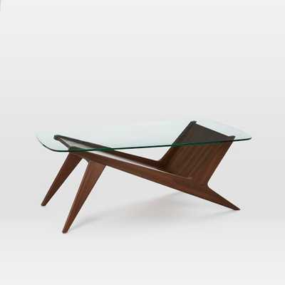 Marcio Display Coffee Table, Dark Walnut - West Elm
