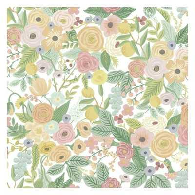 Garden Party Premium Peel and Stick Wallpaper - Pastels - York Wallcoverings