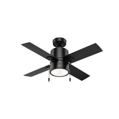 Beck 42 in. LED Indoor Matte Black Ceiling Fan with Light - Home Depot