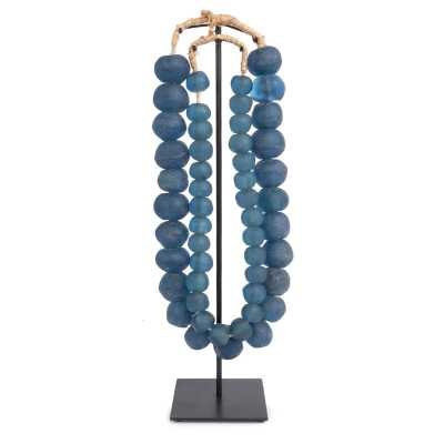 GHANIAN DOUBLE GLASS BEADS ON STAND SCULPTURE - Perigold