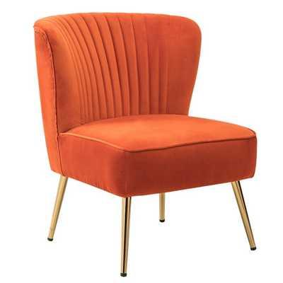 Erasmus Side Chair, Orange - Wayfair