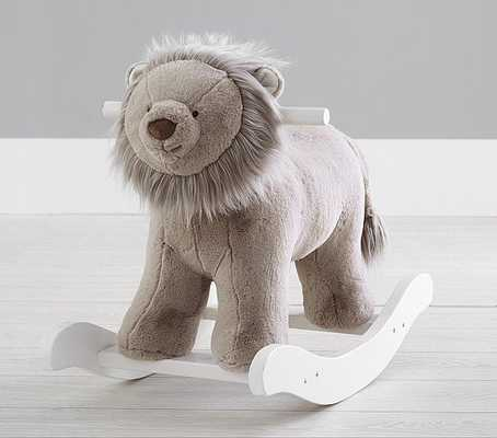 Taupe Lion Plush Nursery Rocker - Pottery Barn Kids