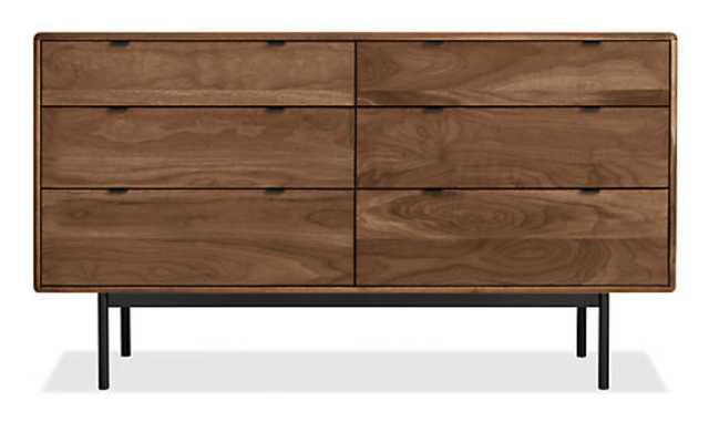 Hensley 60w 20d 33h Six-Drawer Dresser - Walnut - Room & Board