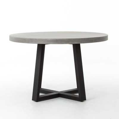 Large Cyrus Round Dining Table in Black & Light Grey - Burke Decor