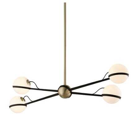 ADELINE CHANDELIER, BRUSHED BRASS - Lulu and Georgia