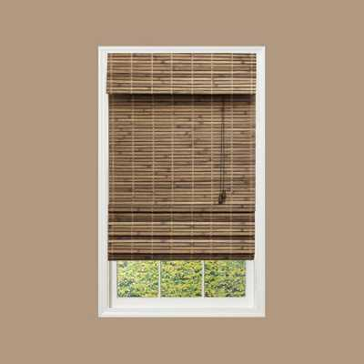 Driftwood Flatweave Bamboo Roman Shade - 40.5 in. W x 72 in. L - Home Depot