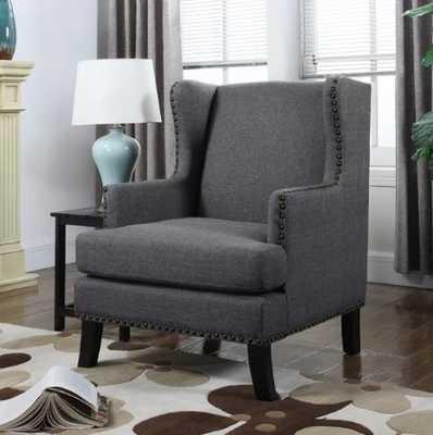 Wingback Chair-Dark Gray - Wayfair