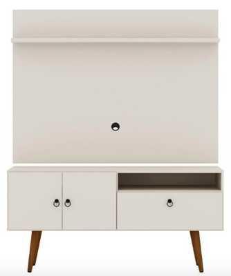 Manhattan Comfort Tribeca TV Stand and Panel_Off White - Hayneedle