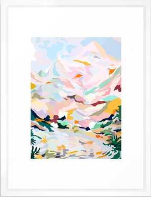 alpine Framed Art Print, White Vector, 15x21 - Society6