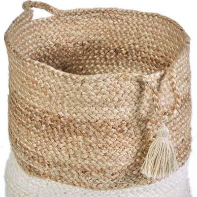 Natural Jute Decorative Storage Basket, Brown - 19'' - Home Depot
