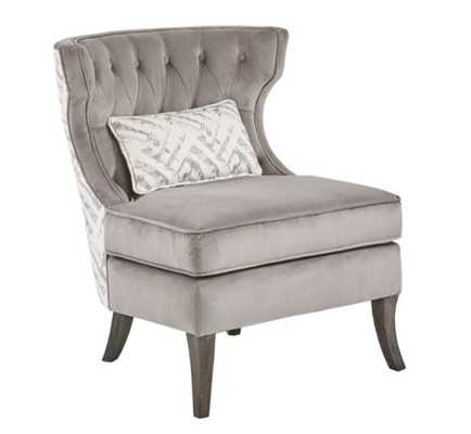 Madison Park™ Polyester Upholstered Naples Chair in Grey/natural - Bed Bath & Beyond