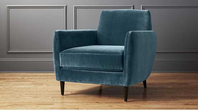 parlour cyan blue chair - CB2