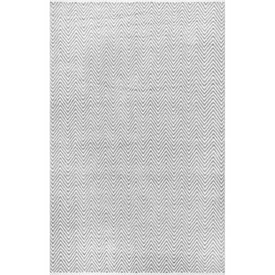 "Nala Herringbone Rug - Light Gray - 7'6""x9'6"" - Loom 23"