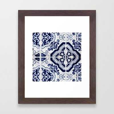Azulejo VI - Portuguese hand painted tiles Framed Art Print - Society6