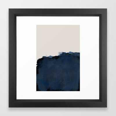 "Abstract, blue, beige, indigo Framed Art Print, 12"" X 12"" - Society6"