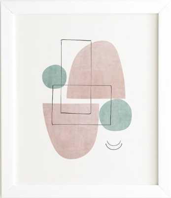 RETRO PEACH White Framed Wall Art - Wander Print Co.