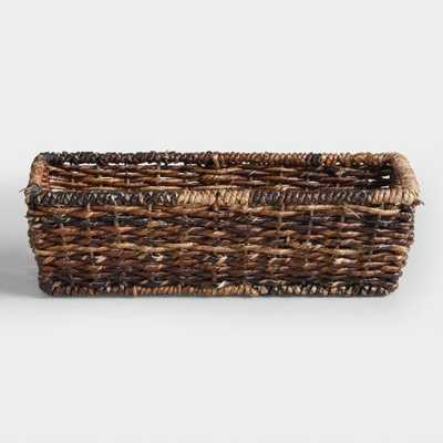 Madras Storage Baskets: Brown - Natural Fiber - Small by World Market Small - World Market/Cost Plus