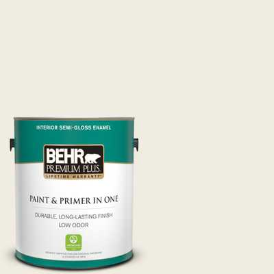 1 gal. #12 Swiss Coffee Semi-Gloss Enamel Low Odor Interior Paint and Primer in One - Home Depot