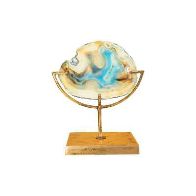 Agate on Stand - Blue/Gold - AllModern