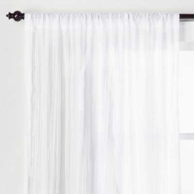 Crushed Sheer Curtain Panel White 95 - Opalhouse - Target