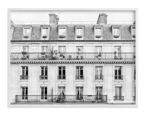 "Days in Paris - 40"" x 30"" - white wood frame - Minted"