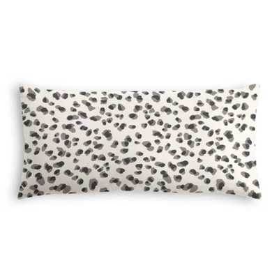 Lumbar pillow - Spot on cinder - 12 x 24 with down insert - Loom Decor