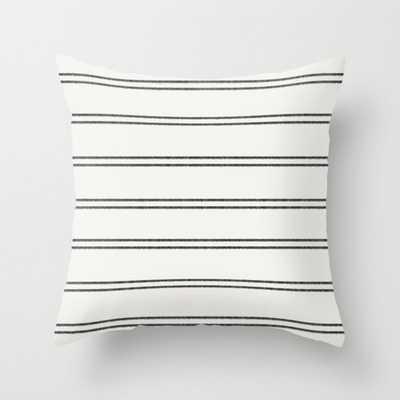 Stripes Black II Throw Pillow - Society6
