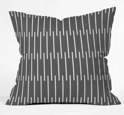 """meridian  grey  Throw Pillow - insert included 18"""" - Wander Print Co."""