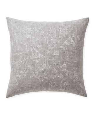 """Camille Scroll 24""""SQ. Pillow Cover - Smoke - Insert sold separately - Serena and Lily"""