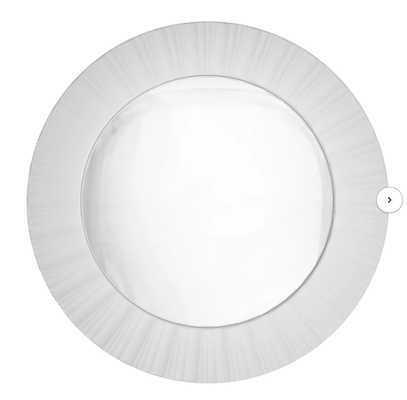 Simply Elegant Fluted Frame Decorative Round Wall Mirror - White - Wayfair