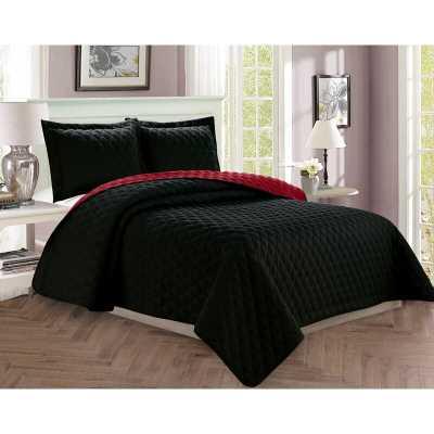 Vioria Diamond Design Reversible Comforter Set - Wayfair