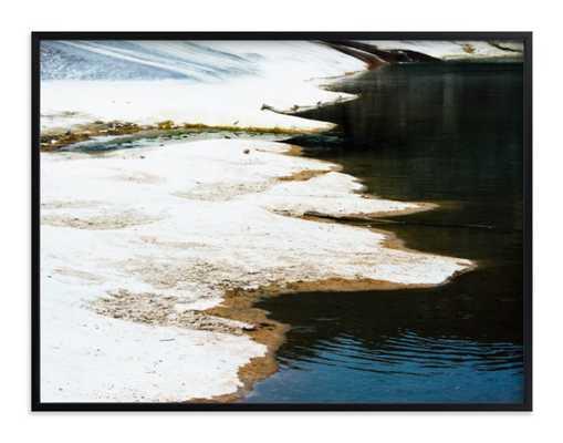 """Pedernales - 30"""" x 40"""" - Black Wood Frame - Minted"""