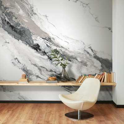 "Gytha Cystal 9' L x 144"" W Peel and Stick Wall Mural (Sold per Roll) - Wayfair"