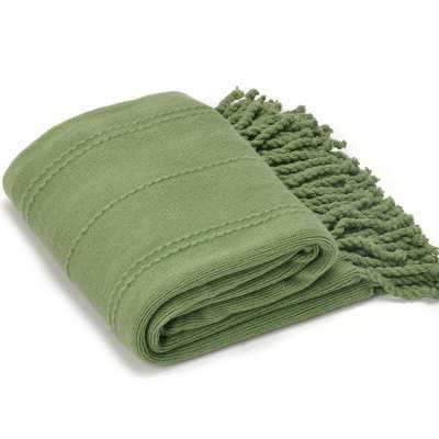 Aleda Woven Luxury Throw / Green - Wayfair