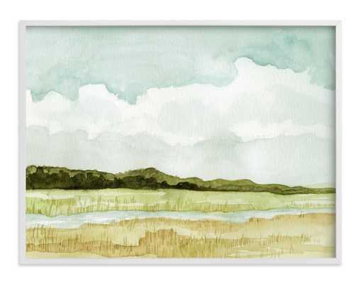 Wetland - white wood frame, 40x30 - Minted