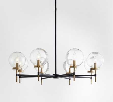 Camryn Round Glass Chandelier, Bronze & Antique Brass - Pottery Barn