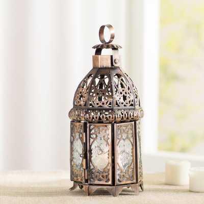 Coppery Moroccan Lantern - Wayfair