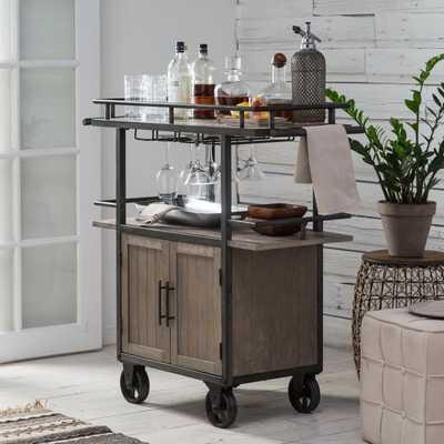Belham Living Jamestown Industrial Bar Cart - Hayneedle