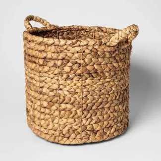 "13""x14"" Decorative Basket Natural - Threshold - Target"
