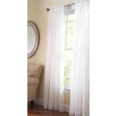Fine Sheer Window Panel in Pure White - 60 in. W x 108 in. L - Home Depot