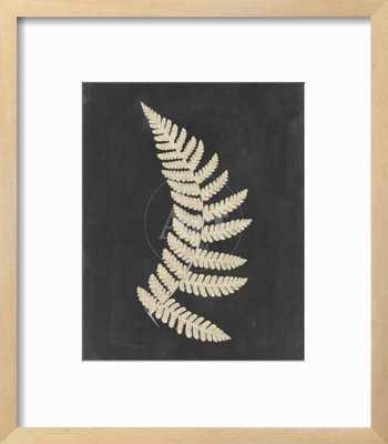 "Linen Fern IV - 12"" x 16"" Art Print - Chelsea Natural 0.75"" Frame - Crisp - Bright White 3"" Mat - Standard Acrylic - art.com"