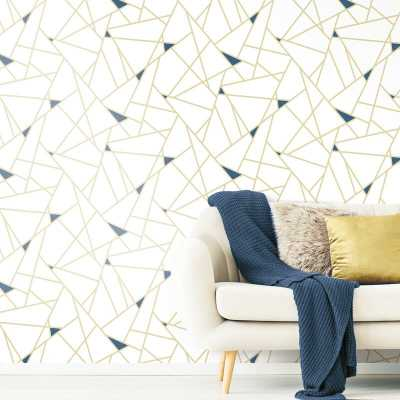 "Fannie Fracture 16.5' L x 20.5"" W Peel and Stick Wallpaper Roll - AllModern"