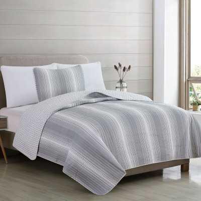 Statesville Reversible Quilt Set- Twin- Grey - Wayfair