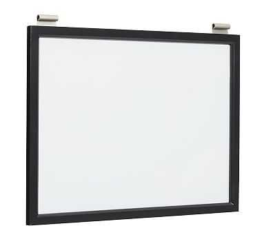 Daily System Magnetic Whiteboard, Black - Pottery Barn