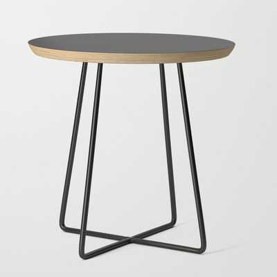 Side Table - Basics - Round Dark Gray - Society6