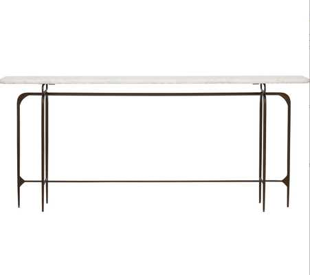 Skinny Marble Top Metal Console - High Fashion Home